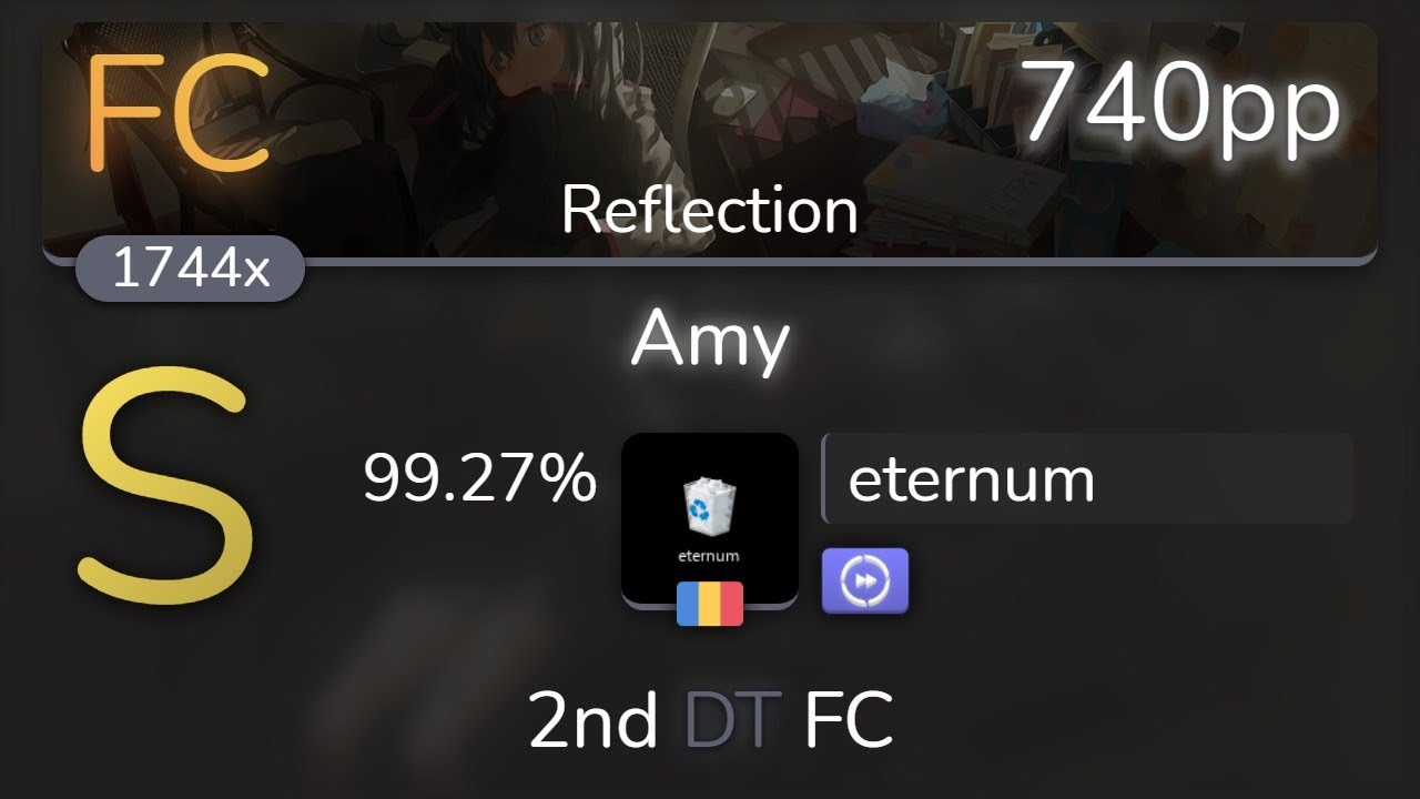 eternum | THE ORAL CIGARETTES - Amy [Reflection] +DT 99.27% {740pp FC} - osu!