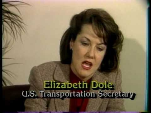 1985 - U.S. Transportation Secretary Elizabeth Dole in Fort Wayne, Indiana