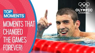 Top 10 Game Changing Moments at the Olympics | Top Moments