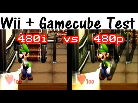 Gamecube On Wii With Component Cables; Split Screen Comparison