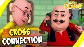 Motu Patlu- EP13B   Cross Connection   Funny Videos For Kids   Wow Kidz Comedy