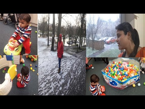 Vlog-Indian 19 months Old Toddler Groups Routine  in UK|| we are going Toddler group in Snowfall