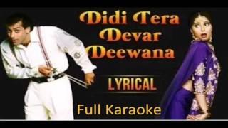 Didi Tera Devar Diwana I Hum Aapke Hai Kaun Movie I Full Karaoke I Best Quality I Super Hit Song