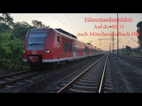 Führerstandsmitfahrt auf der RB33 von Wesel nach Mönchengladbach Hbf