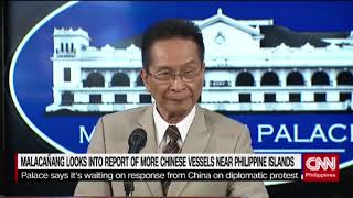 Malacañang looks into report of more Chinese vessels near Philippine island