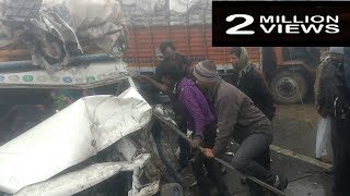 Live Accident Death Rescued NH-8 India/ 1 Jan 2017
