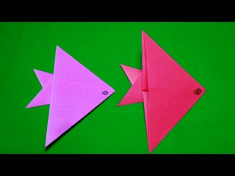 Origami Fish Easy For Kids-How To Make Easy Paper Fish Origami Instructions Step By Step-paper Craft