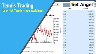 Betfair trading - Low risk Tennis trade explained in depth