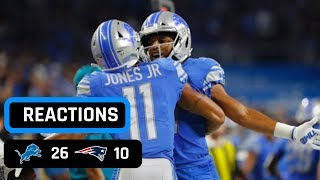 Detroit Lions vs New England Patriots Week 3 Sunday Night Football Recap | Are The Patriots Done?