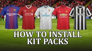 Football Manager 2018 - How to install match kits and get real team shirts in fm18