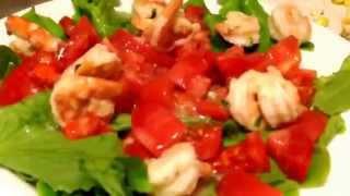 Салат с креветками и кукурузой / Salad with shrimp and corn