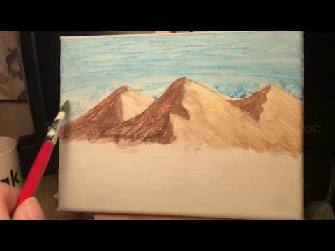 "Time lapse mountain landscape  painting "" Silence before the storm"""
