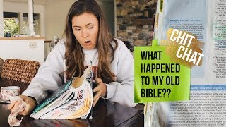 Chit Chat DUCK TAPE MY BIBLE WITH ME (+ what happened to my old Bible???)