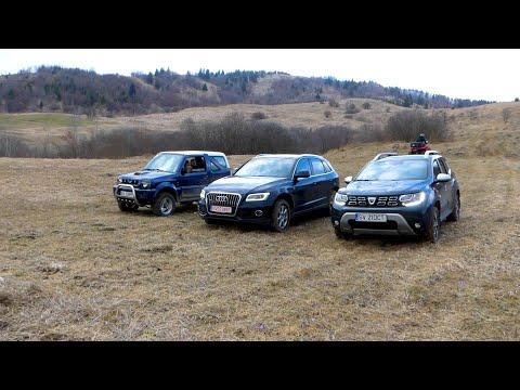 Dacia Duster V Audi Q5 V Suzuki Jimny Hill Offroad