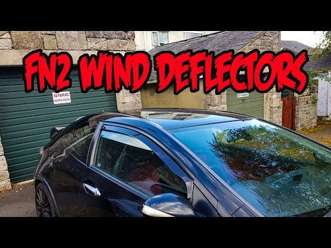 How to fit wind deflectors, Honda civic FN2 Type R