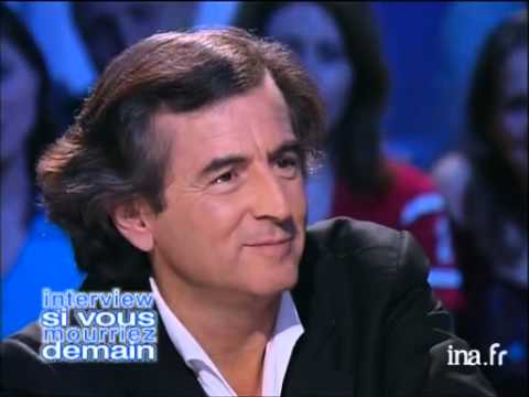 Interview si vous mourriez demain Bernard Henri Lévy - Archive INA