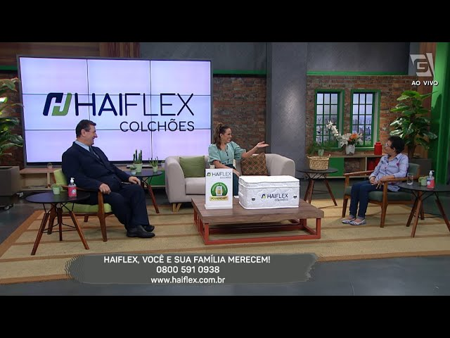 Colchão Tecnológico Haiflex  no Programa Mulheres - Gazeta