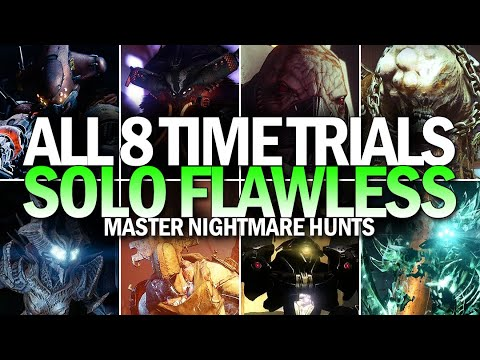 Solo All 8 Nightmare Hunt Time Trials (Flawless Master Nightmare Hunts 980 Compilation)
