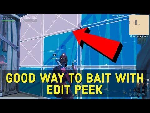 Good Way To Edit Peek - Fortnite Tips And Tricks