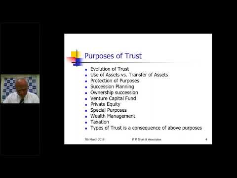 Webinar on Taxation of Private Trusts/Family Trusts and Estate Planning - CA Paresh P Shah