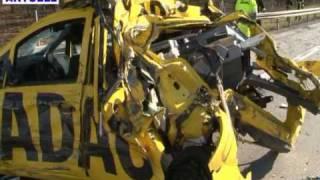 04.03.2010 - BAB 67 bei Viernheim - Lastzug rammt ADAC-Fahrzeug - 1 Tote