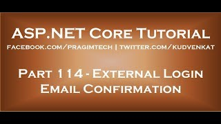 External login email confirmation in asp net core