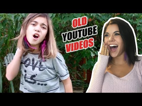 REACTING TO MY OLD MUSIC VIDEOS (STEPHANIEP789)! *so funny!*