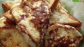Вкусненькие гренки с начинкой из колбасы и сыра.