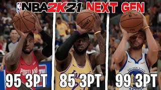 Hitting A 3 Pointer With the Best Shooter On Every NBA Team In NBA 2K21 Next Gen!