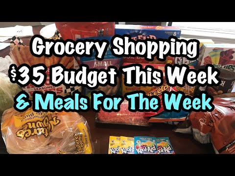 Grocery Shopping on $35 Budget   Meal Planning For The Week!