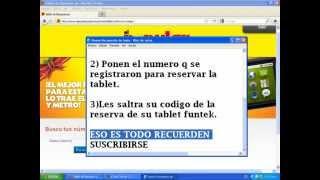 Recuperar el codigo de la promocion la Tablet El Popular
