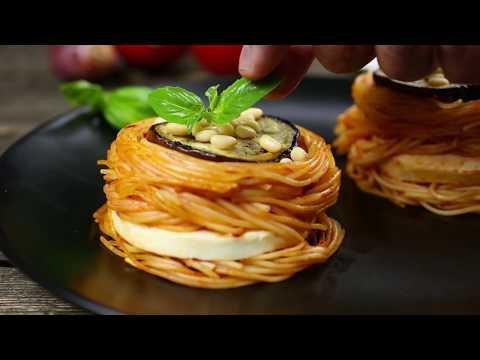 Как приготовить запеканку из спагетти с баклажанами   Простой рецепт