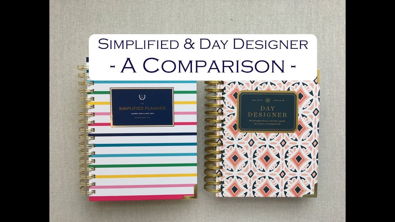 image relating to The Day Designer referred to as SIMPLIFIED Working day DESIGNER -- COMPARISON