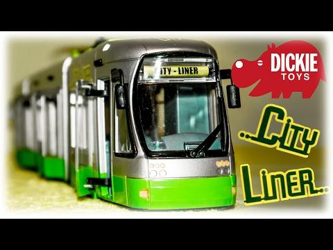 Dickie Toys City Liner Tram VIDEO FOR CHILDREN