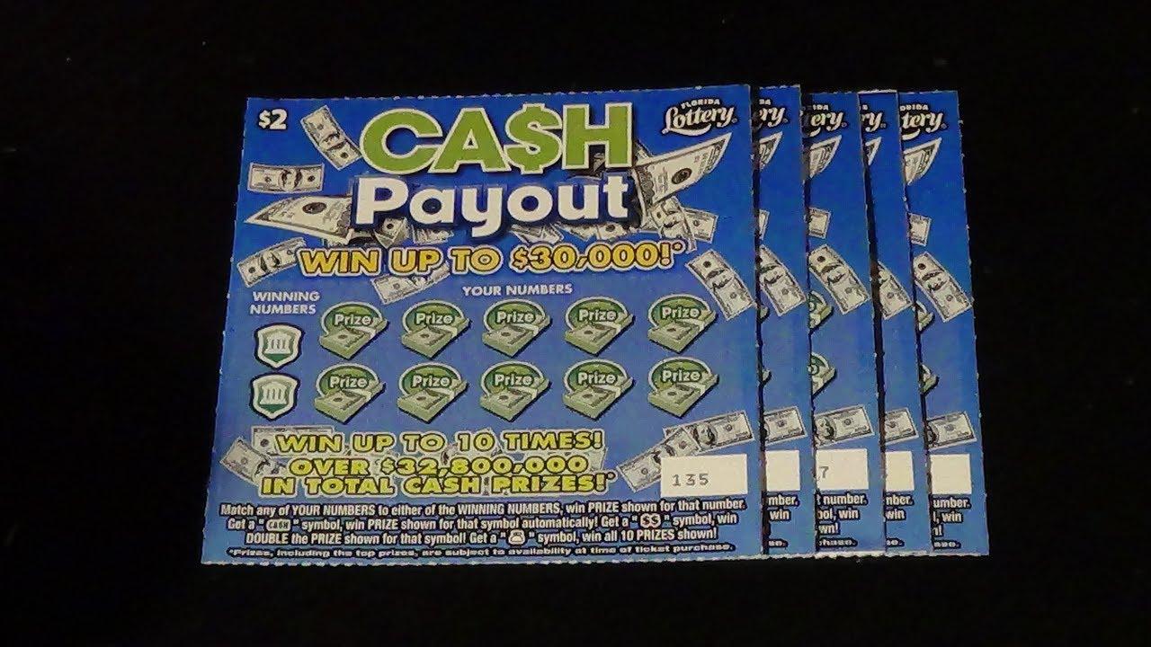 Scratchers On Other Days 153: $2 CASH PAYOUT (5) FL Lottery Tickets
