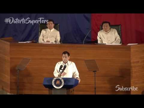 """Pres. Duterte Clarifies """"Federalism"""" - Sona 2016"""