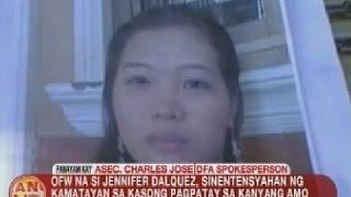UB: Panayam kay DFA Asec. Charles Jose kaugnay sa kaso ng OFW na si Jennifer Dalquez