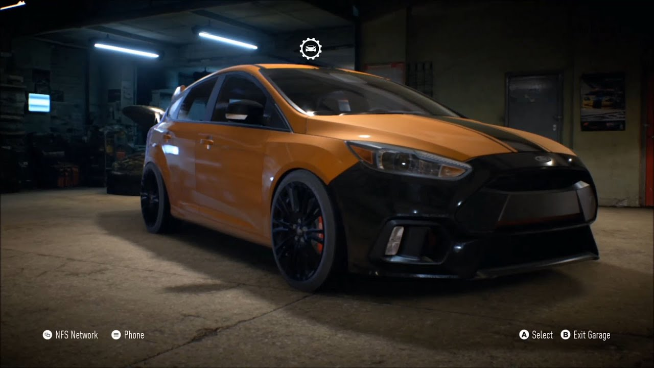 need for speed 2015 ford focus rs 2016 customize car. Black Bedroom Furniture Sets. Home Design Ideas