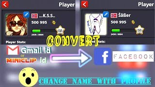 How to convert Miniclip or Gmail id into Facebook, Easy Trick to Change Name with Profile 2018
