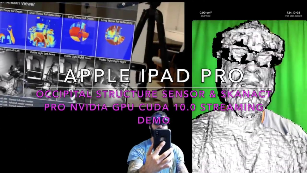 Apple iPad Pro Occipital Structure Sensor Skanect pro