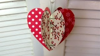 Mothers day paper heart decoration card