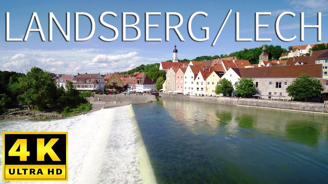 landsberg am lech von oben in 4k youtube. Black Bedroom Furniture Sets. Home Design Ideas