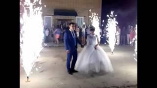 Свадьба#салют#дорожка из фонтанов #