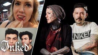 Tattoo Artists React To Youtuberand39s Tattoos 2  Tattoo Artists Answer