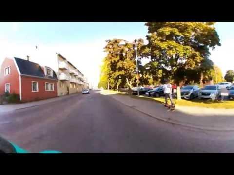 En MC-tur i Borlänge centrum 360 grader film
