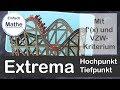 Extrema mit f´(x) und Vorzeichen-Wechsel-Kriterium (VZW) berechnen | by einfach mathe!