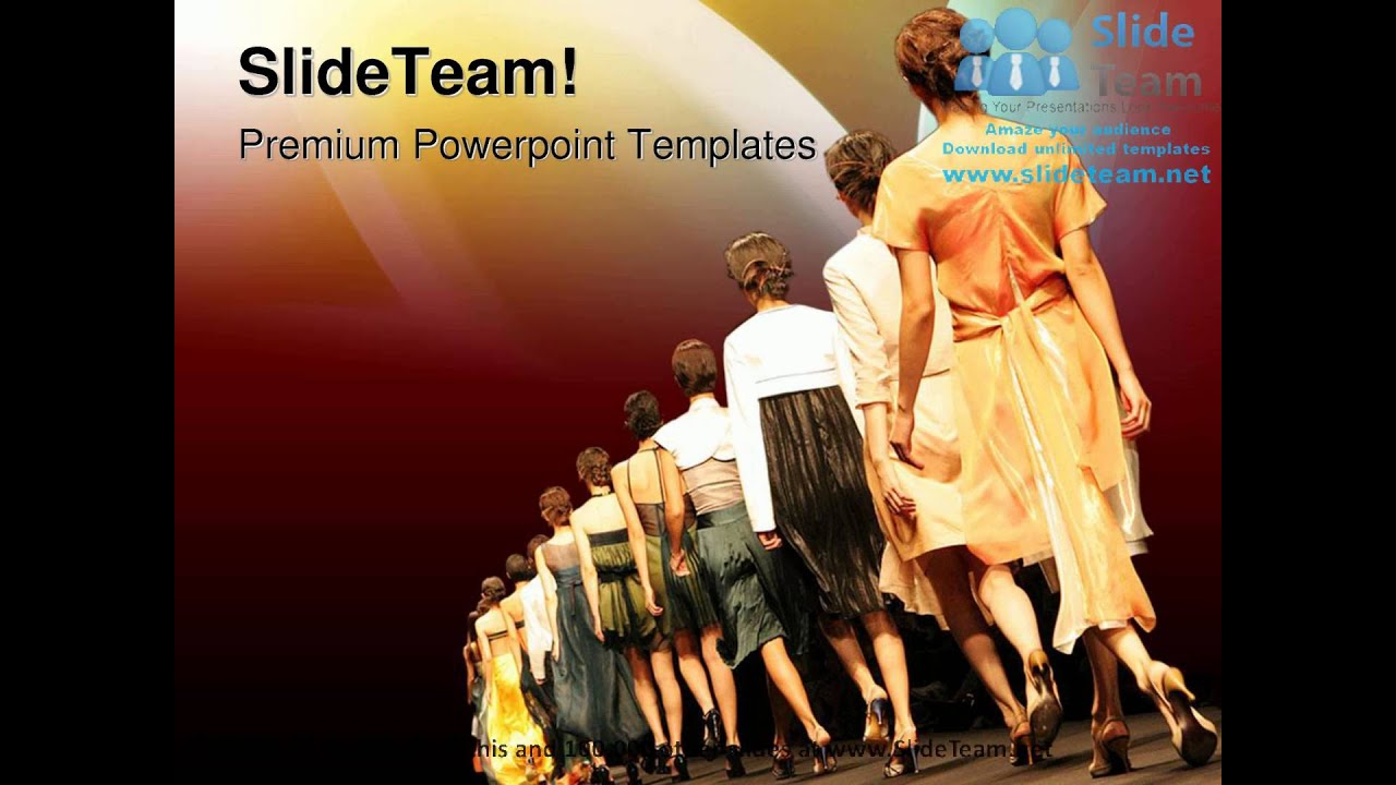 Fashion Show Entertainment Powerpoint Templates Themes And