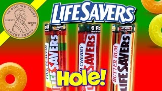 Life Savers Roll Candy With The Hole Five Flavor Wild Cherry Butter Rum Christmas Tins Wrigley Jr.