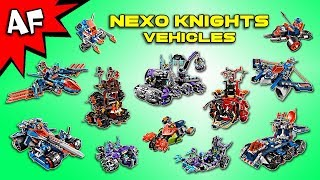 Every Lego Nexo Knights CARS VEHICLES Collection