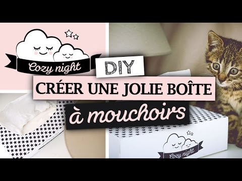 diy accessoires cr er une jolie bo te mouchoirs youtube. Black Bedroom Furniture Sets. Home Design Ideas